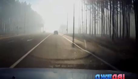 На некоторых трассах вблизи столицы ограничено скоростной режим из-за смога