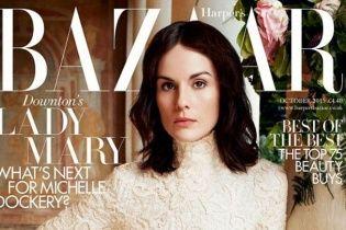 "Звезда ""Аббатства Даунтон"" Мишель Докери в фотосете Harper's Bazaar UK"