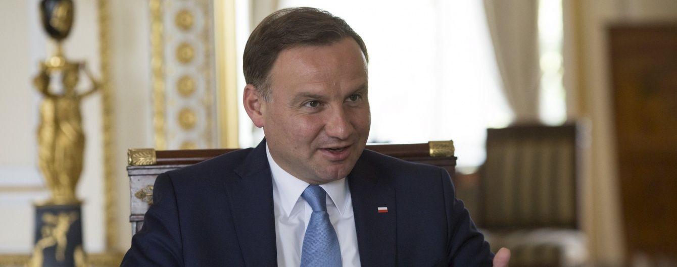 Фіндопомога і санкції проти Росії. Що Дуда обговорюватиме з Порошенком