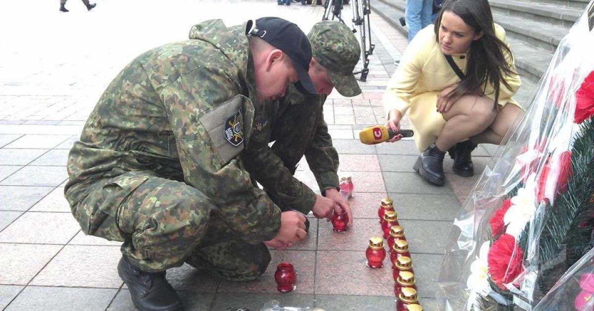 Военные почтили память погибших собратьев @ Национальная гвардия Украины