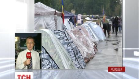 У столиці Молдови понад тиждень триває акція протесту