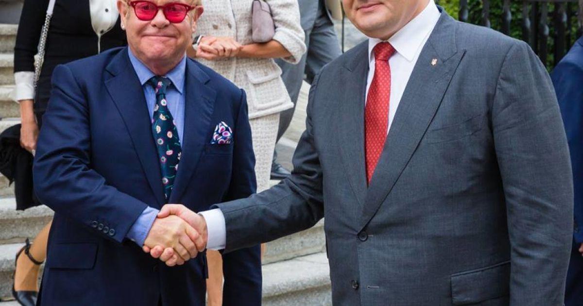 Порошенко встретился с Элтоном Джоном.