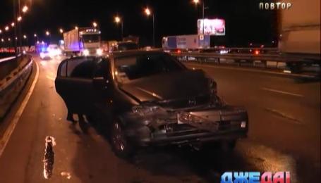 Пьяный водитель спровоцировал аварию на Южном мосту
