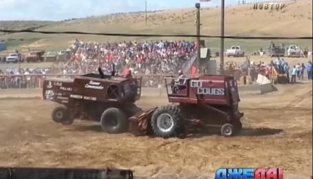 Американские фермеры устроили соревнования на комбайнах