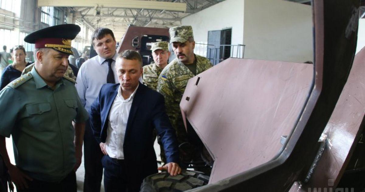 Полторак посетил Львовский бронетанковый завод