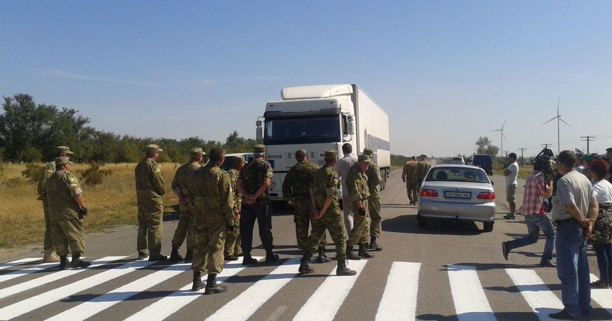 Загруженным фурам запретили выезд из Крыма на материковую Украину