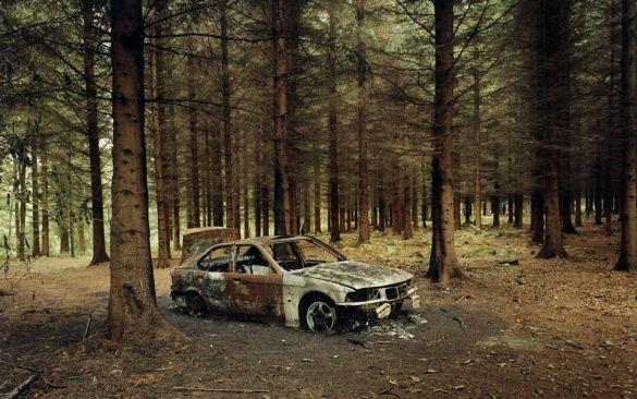 згоріле авто банкіра