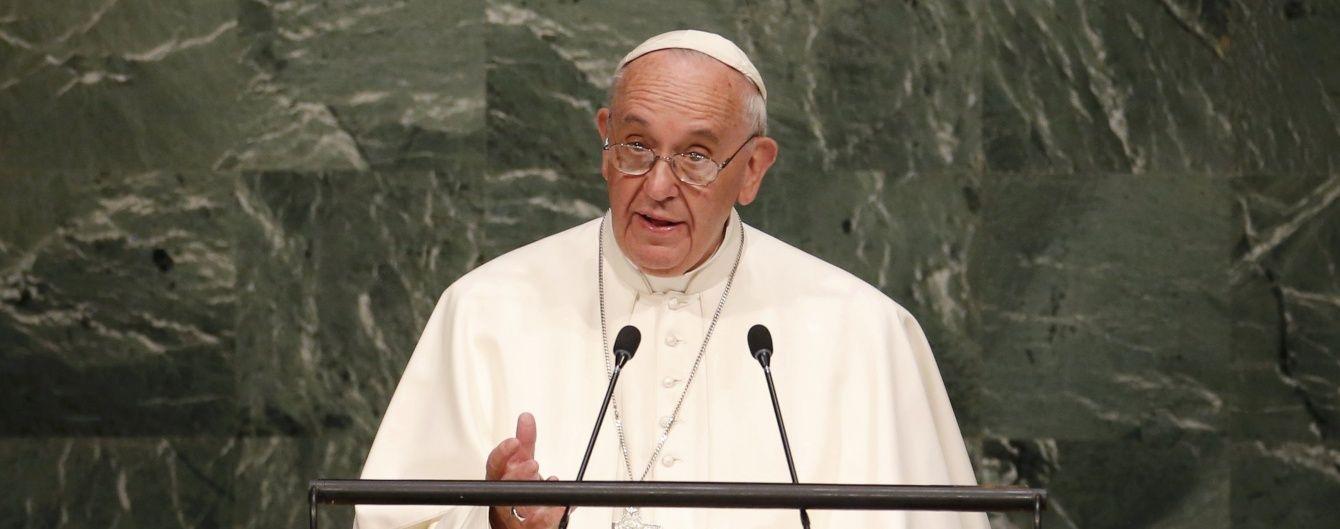 Папа Римський: Ніхто не знає, хто почав війну в Україні