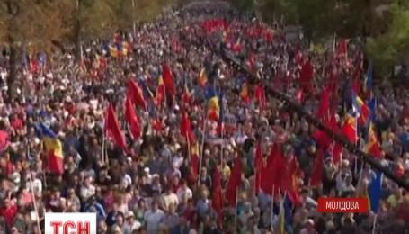 В центре Кишинева прошел пророссийский митинг