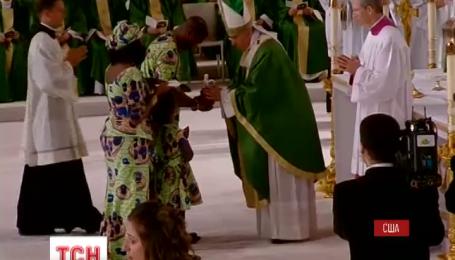 На мессу, которую Папа Римский Франциск провел в Филадельфии, собрался миллион верующих
