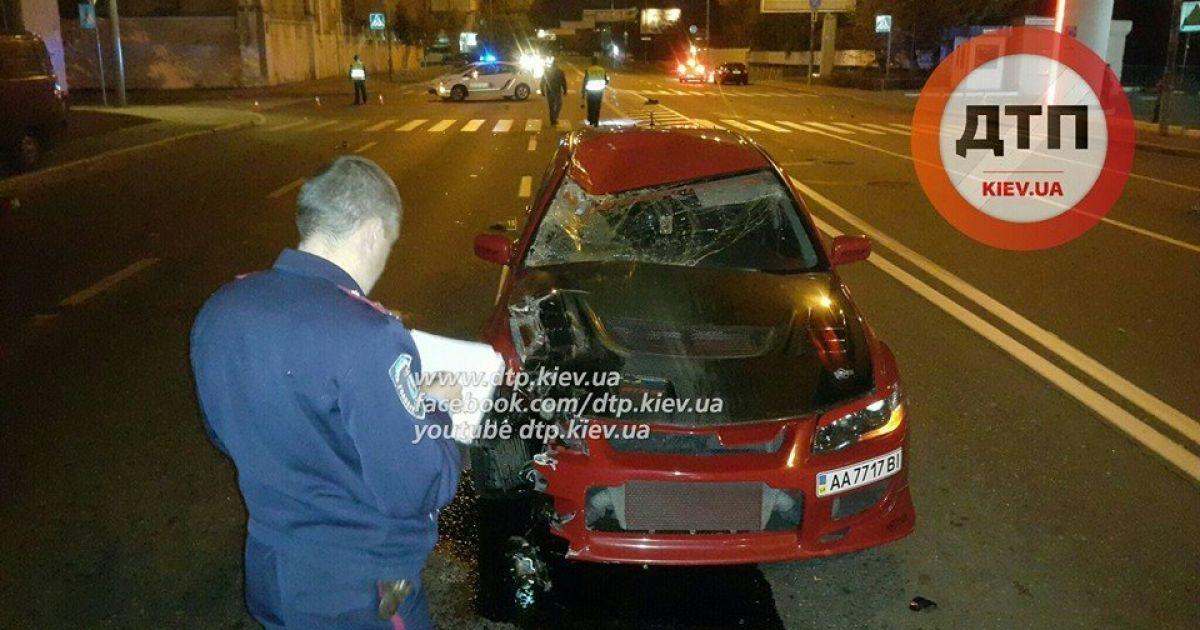 В Киеве пьяный водитель насмерть сбил мужчину @ facebook.com/dtp.kiev.ua