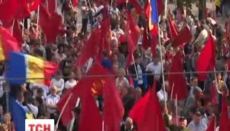 В Кишиневе прошел пророссийский митинг