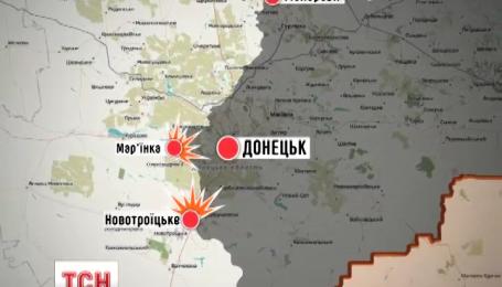 При обстреле боевиками позиций сил АТО в Марьинке ранены четверо украинских военных