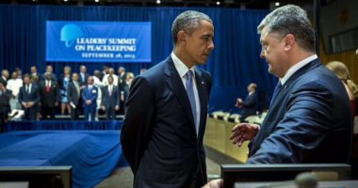 Порошенко и Обама во время незапланированной встречи провели крайне серьезный разговор