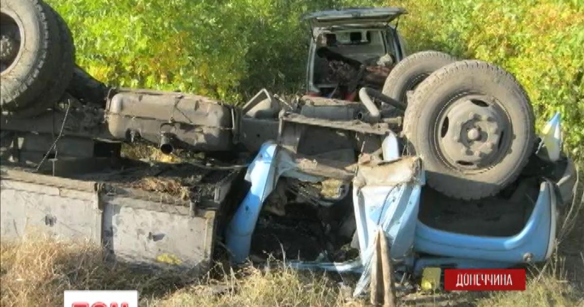 Возле Горловки подорвался на фугасе грузовик с военными