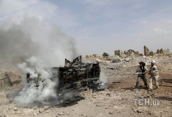 Наслідки бомбардування в районі міста Ідліб, Сирія _1