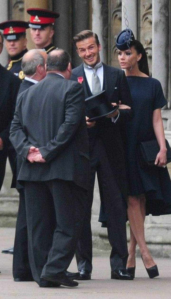 Виктория Бекхэм на свадьбе принца Уильяма и герцогини Кэтрин в 2011 году