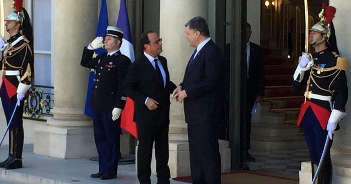 """Олланд встречал лидеров """"Норманнской четверки"""" @ twitter.com/dimsmirnov175"""