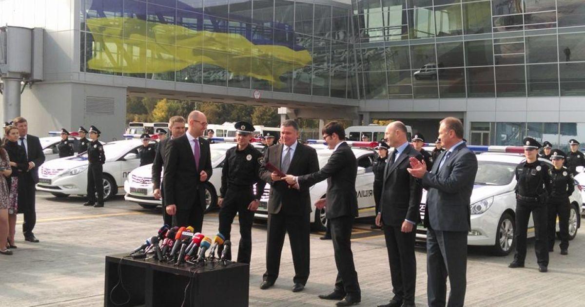 """В аэропорту """"Борисполь"""" дали старт патрулированию новой полицией @ Facebook/Андрей Пивоварский"""