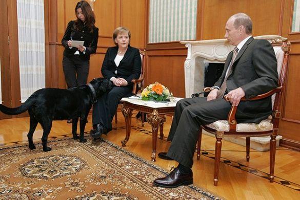 Меркель і собака Путіна