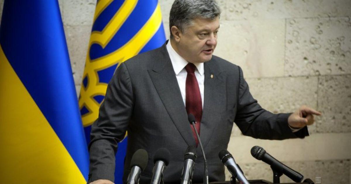 Порошенко возмутила отмена второго тура в Павлограде
