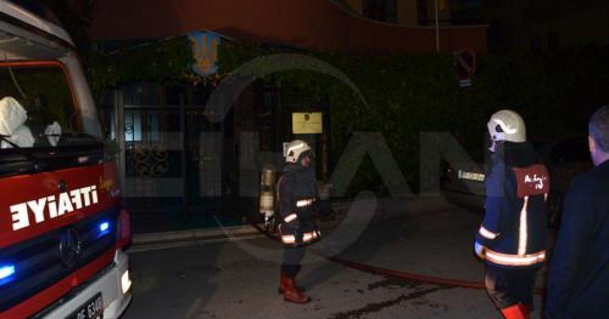 В Турции вспыхнул пожар в посольстве Украины