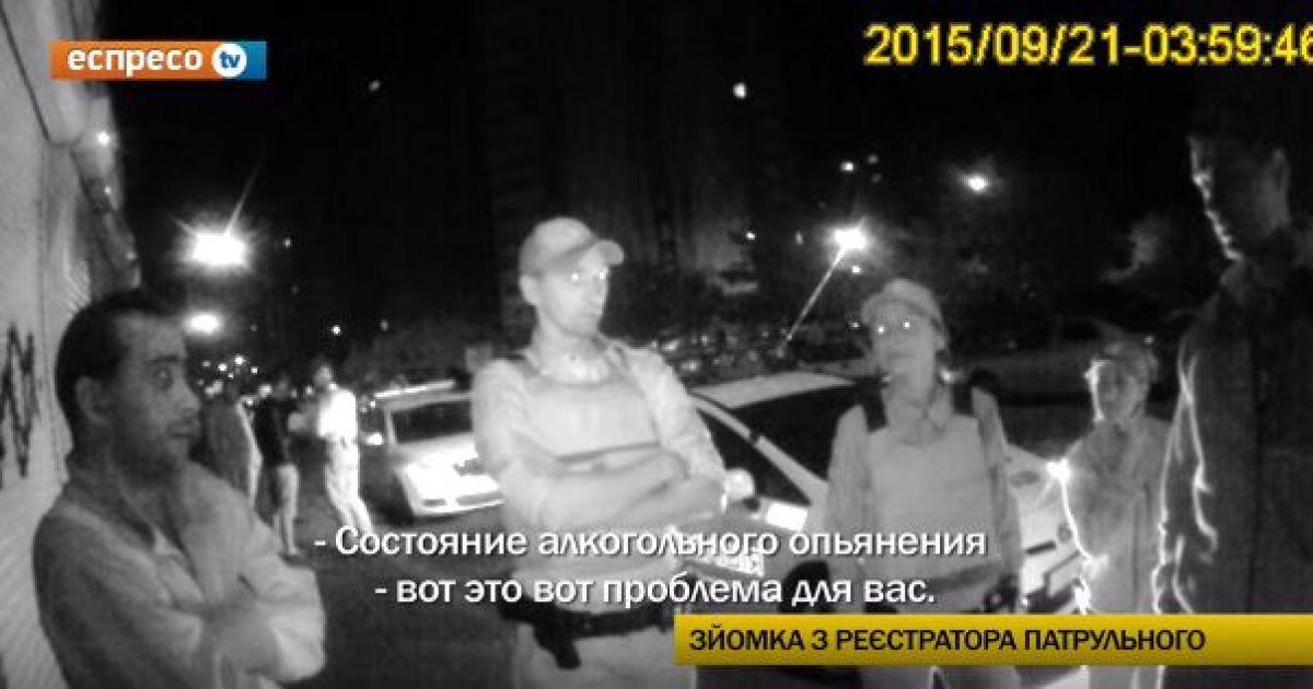 Полиция Киева задержала пьяных милиционеров на служебном авто