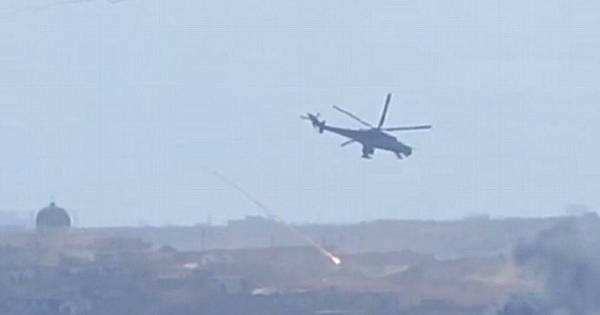 Російські вертольоти обстрілюють сирійські міста.