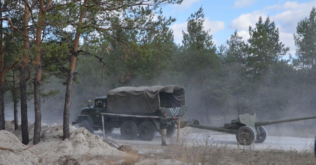 В штабе АТО сообщили об отводе на Луганщине украинской артиллерии калибра 85 мм