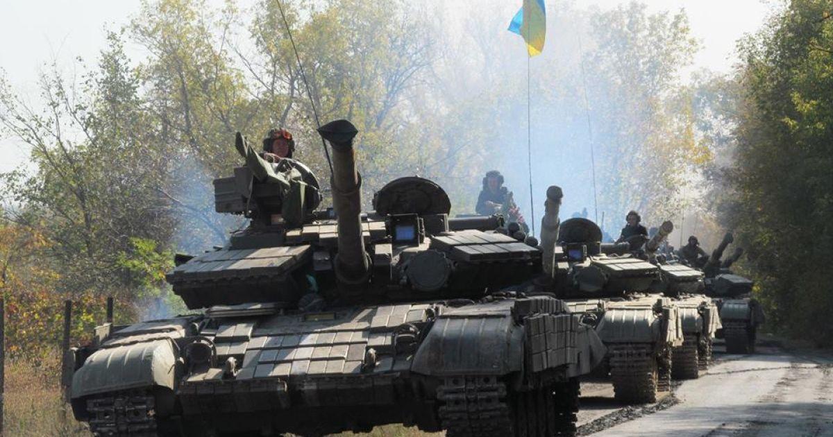 На Донетчине украинские военные начали отвод танков, минометов и артиллерии