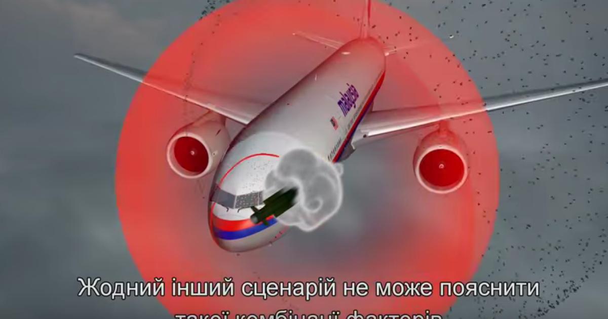 Нидерланды обнародовали видео с пошаговым воспроизведением катастрофы MH17