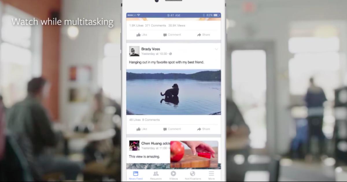 Facebook тестирует новые видеофункции