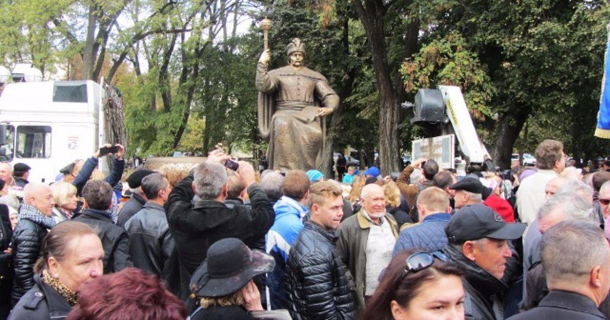 Під час презентації пам'ятника Мазепі в Полтаві @ Полтавщина