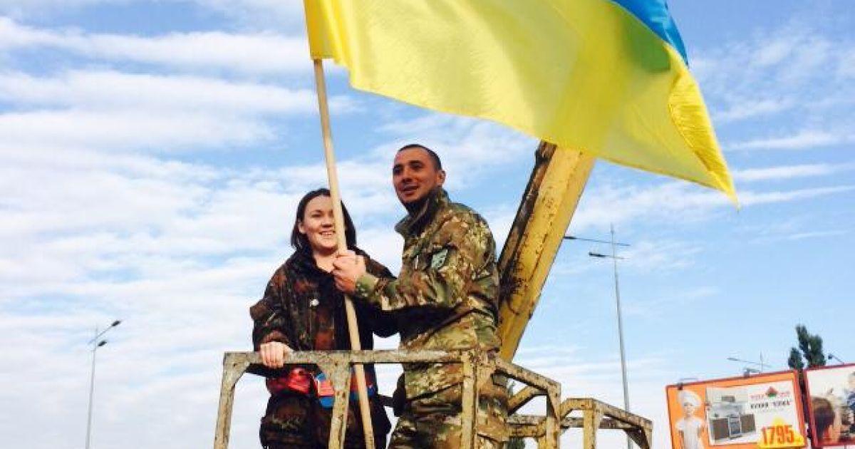 В Киеве появилась композиция с украинским флагом над Кремлем @ ТСН.ua