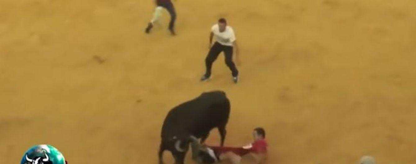 Безудержный бык оставил без трусов посетителя корриды