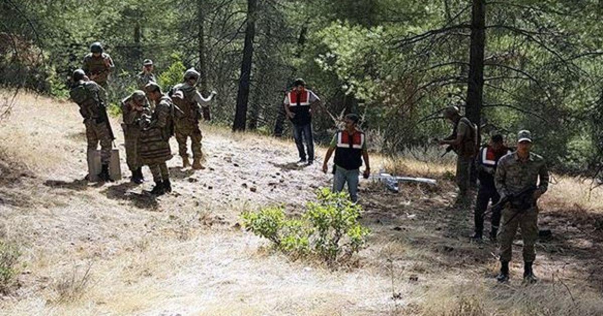 Появилось фото сбитого в Сирии неизвестного беспилотника