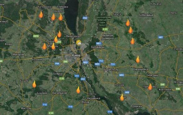 Мапа пожеж торф'яників