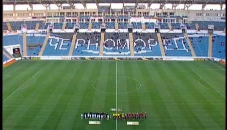 Футболісти вшанували память жертв катастрофи катеру Іволга під Одесою