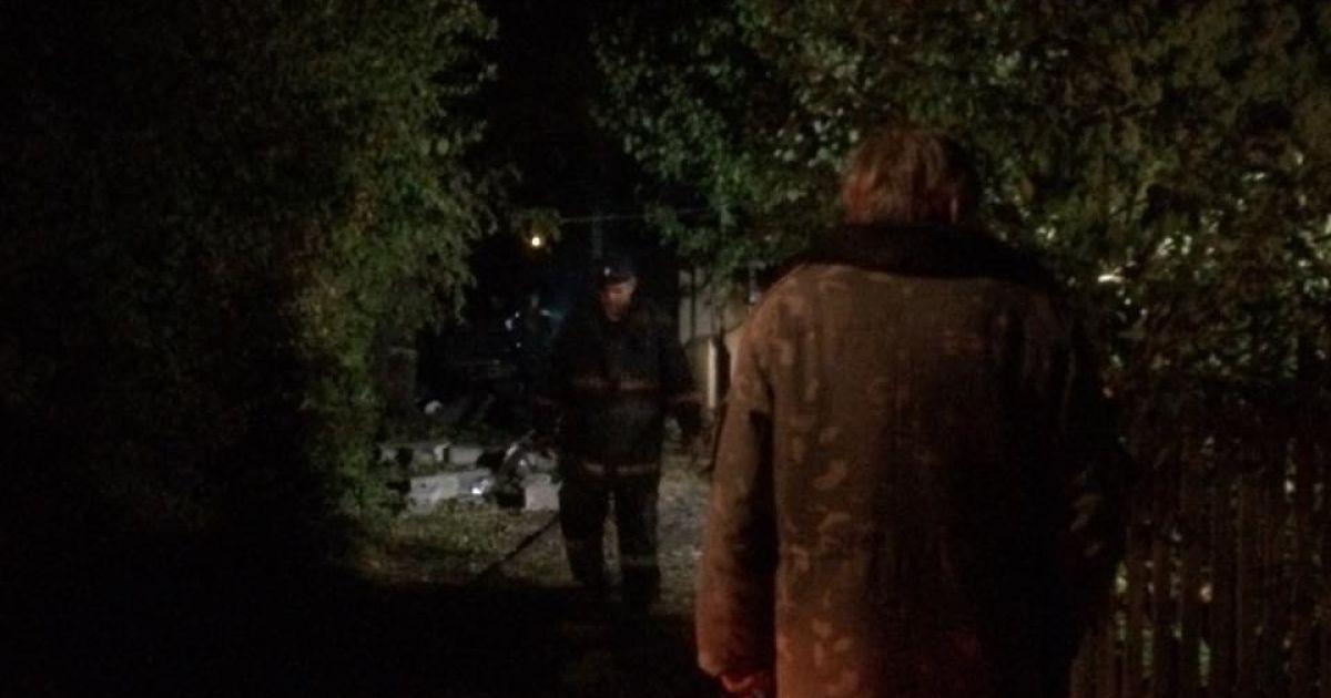 В результате взрыва сильно обгорел 67-летний мужчина. @ Фото Валерии Ковалинской/ТСН
