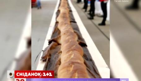 В Милане испекли багет длиной 122 метра