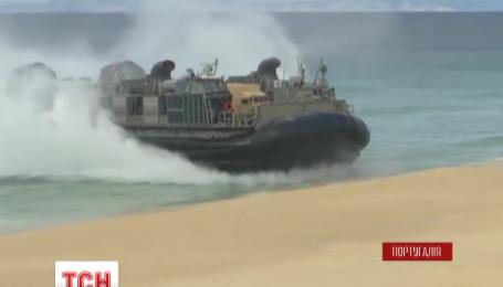 Десантные корабли на воздушной подушке высадились на португальский берег