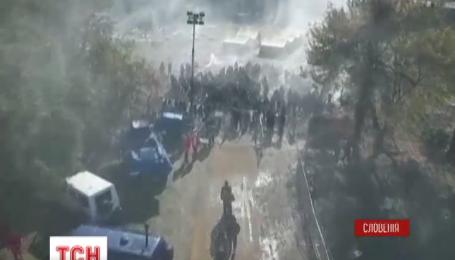 В Словении мигранты устроили поджог своего палаточного городка