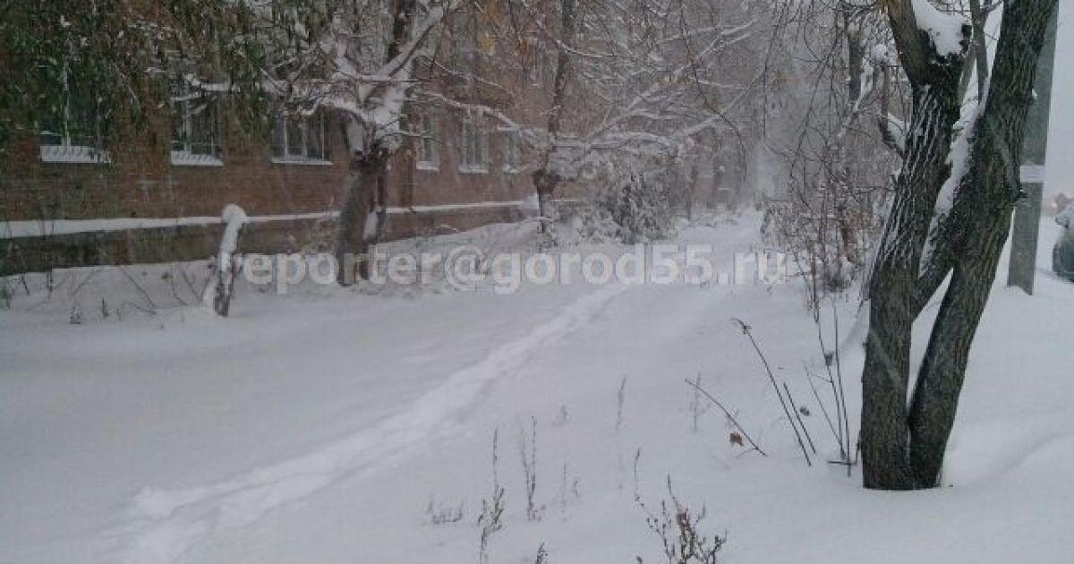 Зима пришла на удивление рано в российский Омск