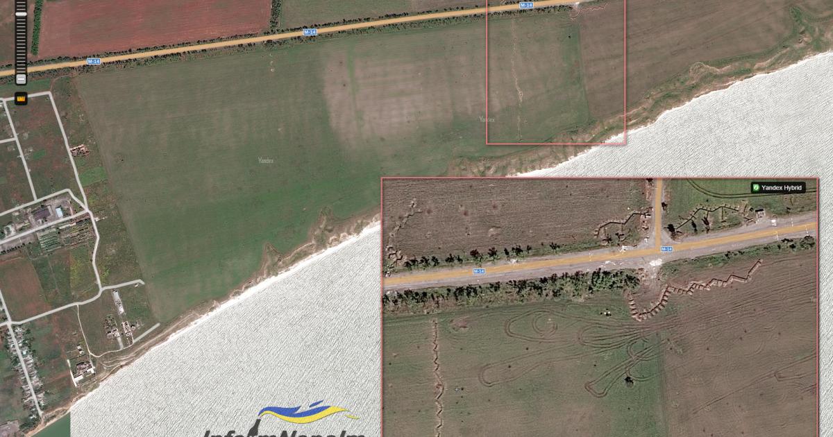 Позиции оккупационных войск России в полукилометре от крайних домов в Широкино @ InformNapalm