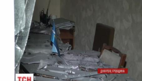 В городе Желтые Воды Днепропетровской области ночью прогремел мощный взрыв