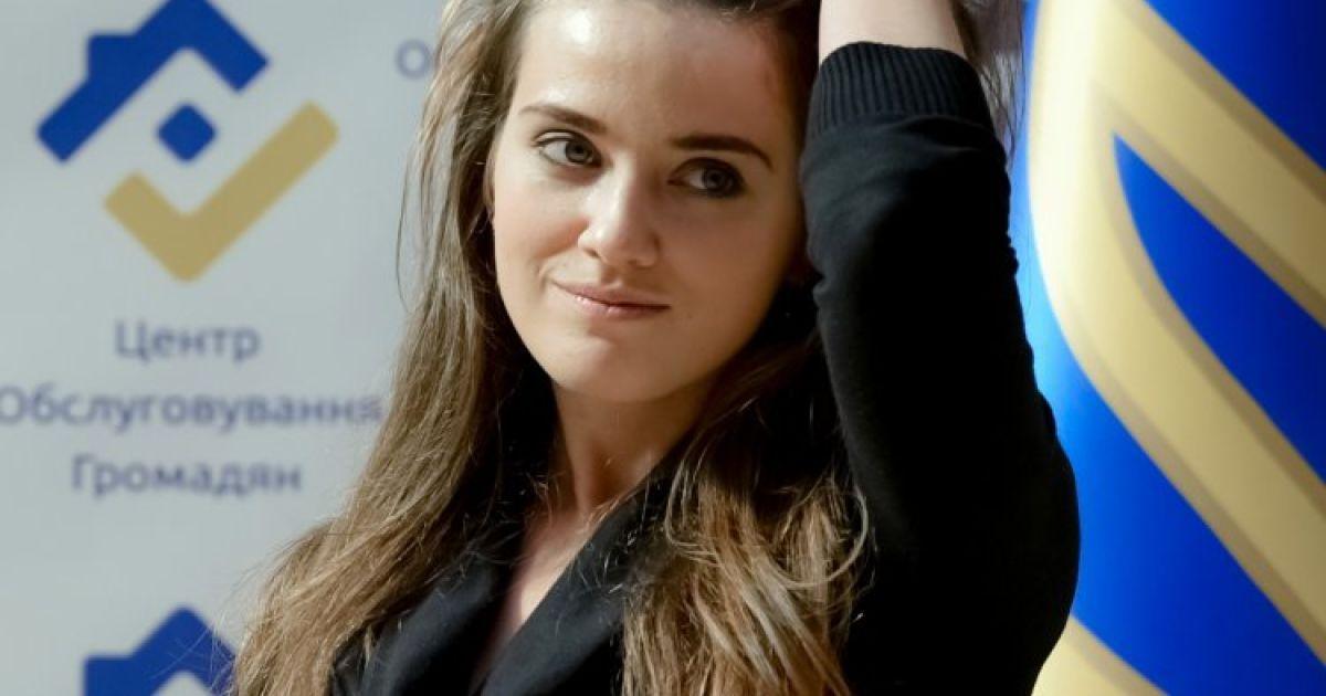 26-річна начальниця Одеської митниці Юлія Марушевська. @ УНІАН