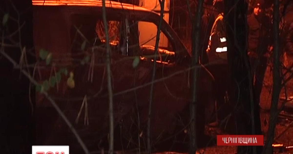 Сожженная под Черниговом инкассаторская машина перевозила около 15 млн гривен