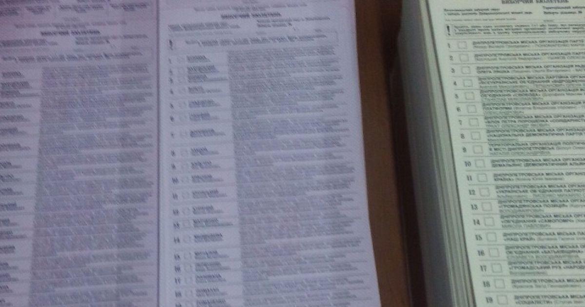 Бюлетені для голосування надруковані з помилкою. @ ТСН.ua