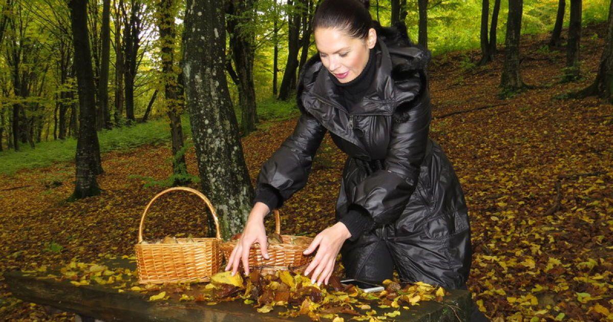 Литовченко сходила за грибами в дизайнерських чоботях