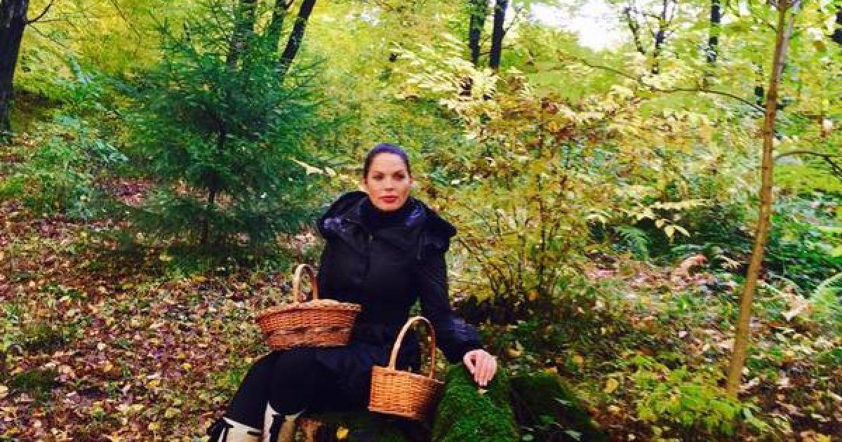 Литовченко сходила по гриби в дизайнерських чоботях @ ТСН.ua